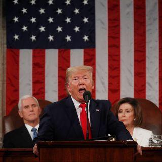 Donald Trump lors du traditionnel discours sur l'état de l'Union. [Leah Millis - Reuters]