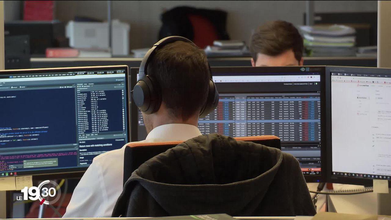 La bourse suisse a battu un record historique. L'indice des plus grandes entreprises, le SMI, a atteint 11'000 points. [RTS]