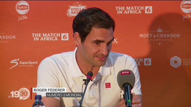 Tennis: Roger Federer et Rafael Nadal s'affrontent dans un match de charité pour soutenir des projets en Afrique du Sud. [RTS]