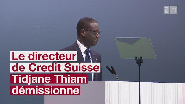 Tidjane Thiam se retire de Credit Suisse apres les affaires d espionnage [RTS]