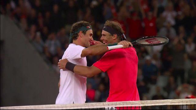 Federer – Nadal (4-6, 6-3, 6-3): les plus beaux moments du match de charité entre les deux monstres sacrés du tennis ! [RTS]