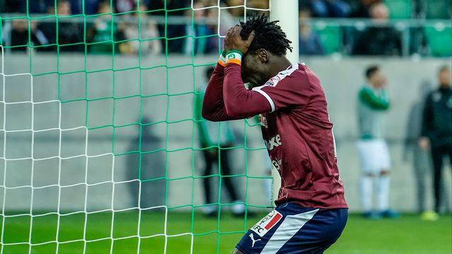 Koro Koné et le SFC sont repartis de St-Gall avec une défaite. [Andy Mueller - Freshfocus]