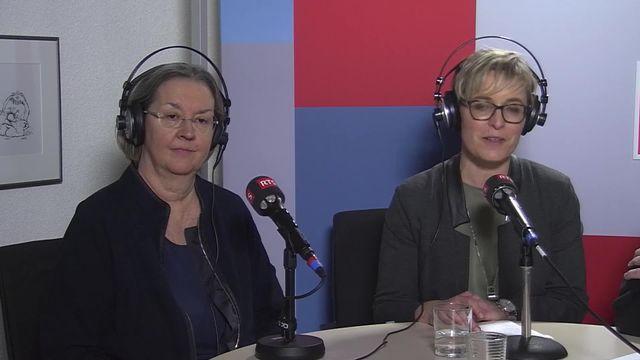 Une socialiste arrive en tête de l'élection partielle au Gouvernement jurassien: interview de Anne Seydoux-Christe et Rosalie Beuret Siess [RTS]