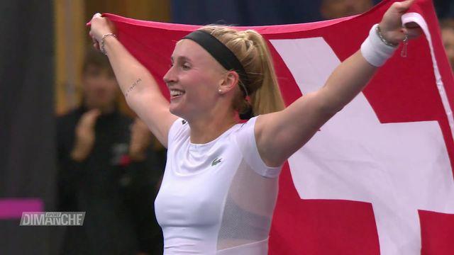 Tennis, Fedcup: les Suissesses viennent à bout des Canadiennes et se qualifient pour le tournoi final [RTS]