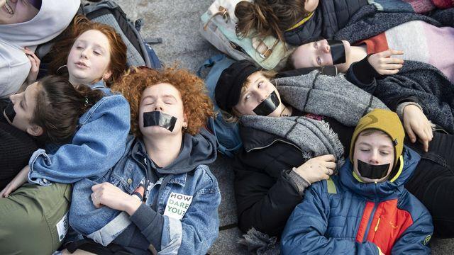 Des activistes d'Extinction Rebellion en Allemagne (10 janvier 2020). [EPA/Lukas Barth-Tuttas - Keystone]