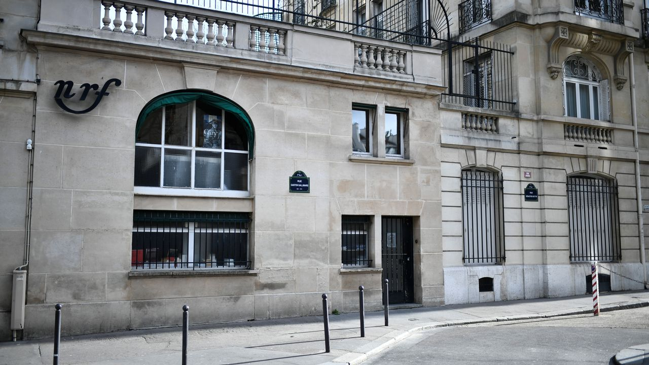 L'entrée des éditions Gallimard, à la rue Gaston Gallimard, Paris, le 12 février 2020. [Stéphane de Sakutin - afp]