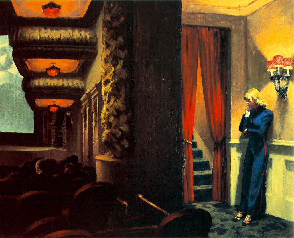 """New York Movie"" (1939), d'Edwerd Hopper."