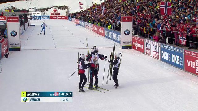 Biathlon: Championnat du Monde Relais  Mixte, la Norvège s'impose à Antholz [RTS]