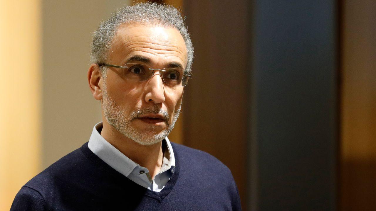 Tariq Ramadan à son arrivée au Palais de Justice de Paris, le 13 février 2020. [Thomas Samson - afp]