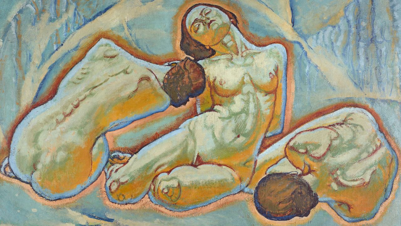 "Koloman Moser (1868-1918), ""Trois femmes"" (Drei Frauen), vers 1914. [mumok – Museum moderner Kunst Stiftung Ludwig Wien  - mcba.ch]"