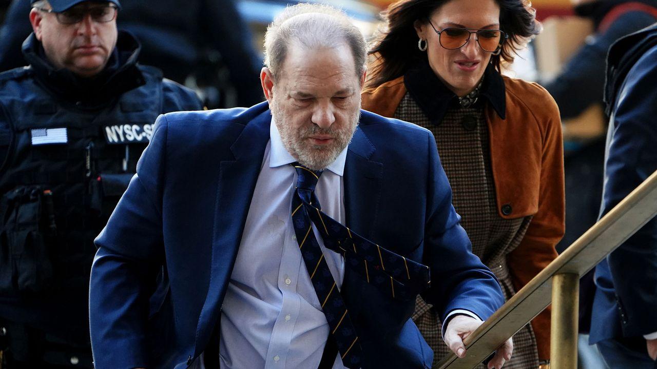 Harvey Weinstein à son arrivée à l'ultime audience à New York, vendredi 14.02.2020. [Carlo Allegri - Reuters]