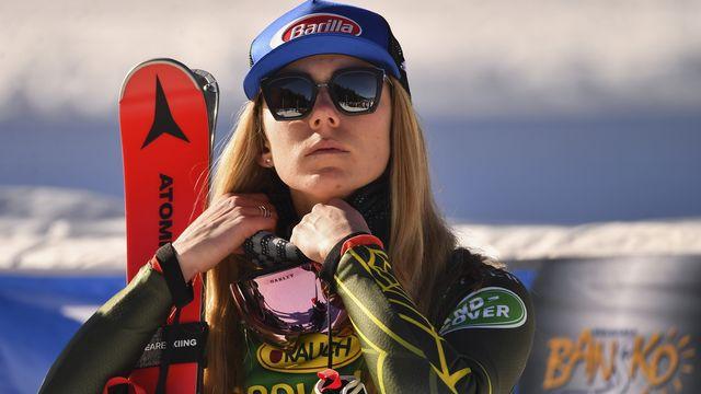 Mikaela Shiffrin, reine du ski alpin, est toujours très affectée par le décès de Jeff, son papa, intervenu au tout début du mois de février. [Georgi Licovski - AP]