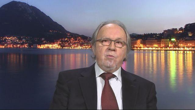 Dick Marty s'exprime dans le 19h30 sur l'affaire Crypto AG [RTS]