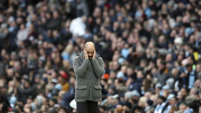 Une mauvaise nouvelle pour Pep Guardiola et les supporters de Manchester City. [Jon Super - AP]