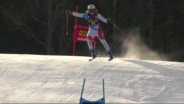 Kranjska Gora (SLO), géant dames, 1re manche: Andrea Ellenberger (SUI) qualifiée pour la 2e manche [RTS]