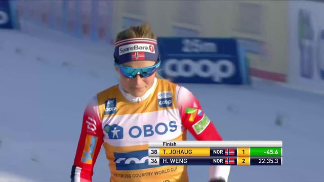 Ostersund, (SWE), 10km dames: Therese Johaug (NOR) s'impose [RTS]