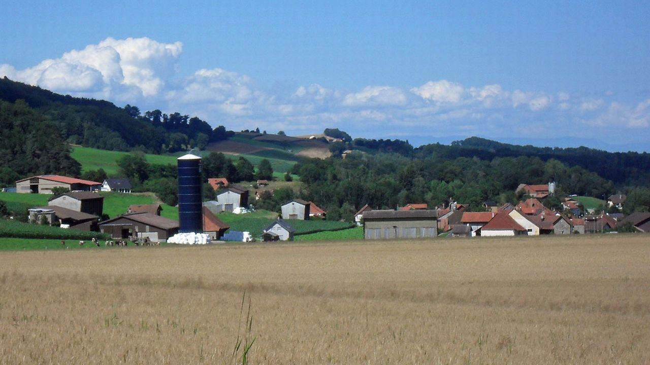 La pollution s'est produite sur la commune de Cheiry (FR). [Christophe Badoux - CC-BY-SA]