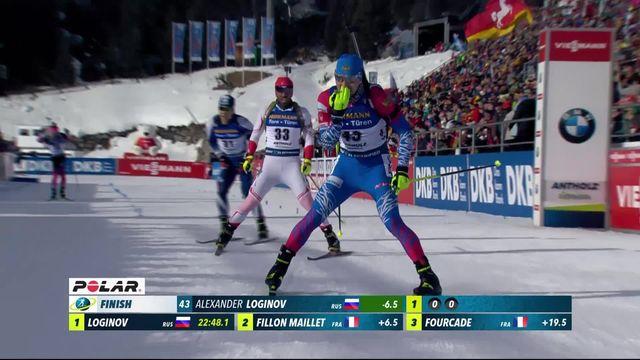 Antholz (ITA), sprint messieurs: Alexander Loginov (RUS) s'impose [RTS]