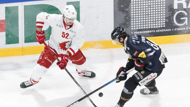 Fin de saison pour le défenseur suédois Philip Holm, qui venait de rejoindre Lausanne. [Cyril Zingaro - Keystone]