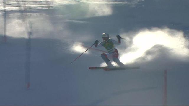 Kranjska Gora (SLO), slalom dames, 1re manche: Michelle Gisin (SUI) [RTS]