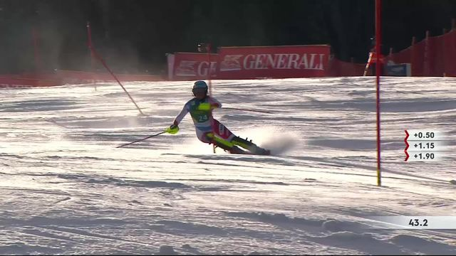 Kranjska Gora (SLO), slalom dames, 1re manche: Elena Stoffel (SUI) [RTS]