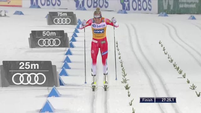Ostersund (SWE), 10km dames: Therese Johaug (NOR) s'impose [RTS]