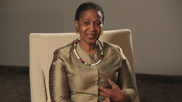 Phumzile Mlambo-Ngcuka, secrétaire générale adjointe des Nations unies et directrice exécutive de l'ONU Femmes. [Kemal Softic - AP Photo/ Keystone]