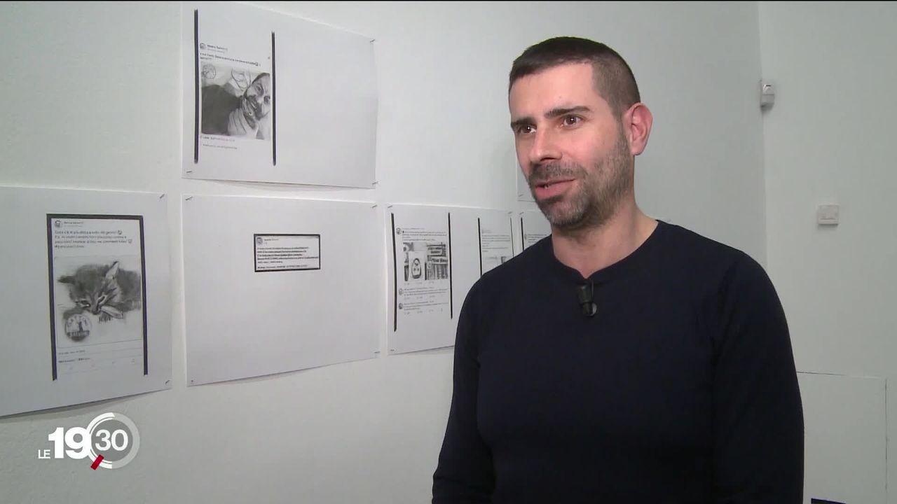 A Milan, l'artiste suisse Marc Bauer expose des oeuvres polémiques à l'Institut suisse. [RTS]