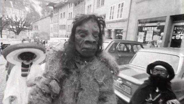 Le quartier de l'Auge à Fribourg en 1973. [RTS]