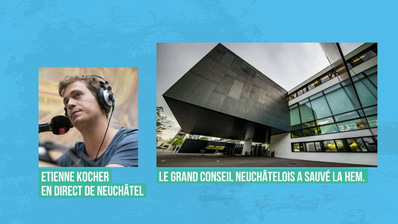 Les députés neuchâtelois sauvent le site de la Haute Ecole de musique [RTS]