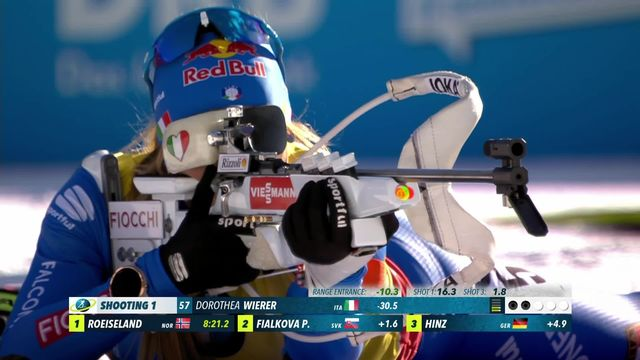 Biathlon, Mondiaux: Dorothea Wierer domine l'individuel dames (15km) [RTS]