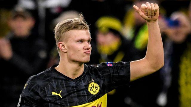 Erling Haaland a inscrit deux buts mardi soir. [Sascha Steinbach - Keystone]
