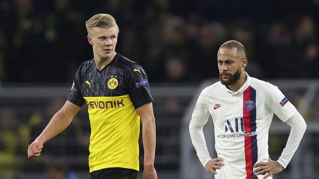 Haaland a marqué 2 fois, Neymar 1 fois mardi à Dortmund. [Friedemann Vogel - Keystone]