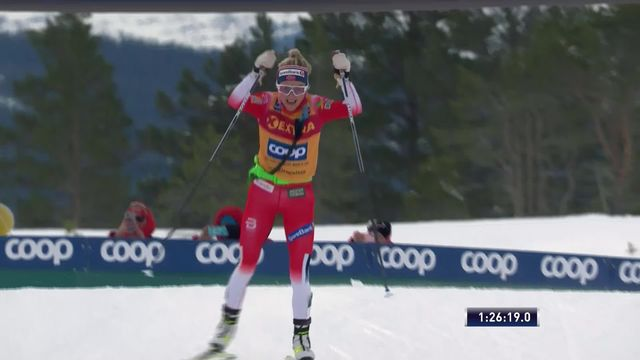 Meraker (NOR), Mass Start dames: Therese Johaug (NOR) s'impose sur 34km [RTS]