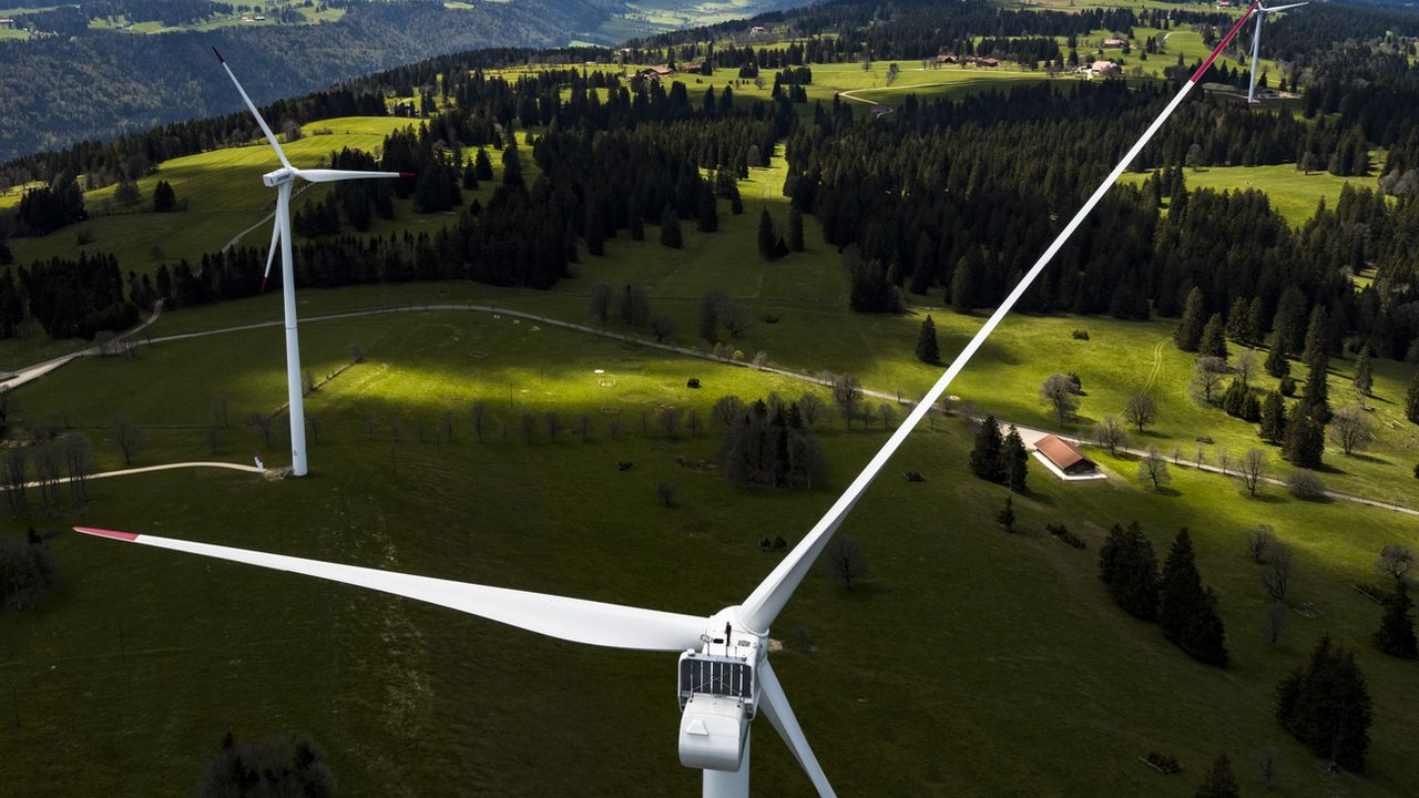 Un record de production d'électricité éolienne en 2019. [Valentin Flauraud - Keystone]