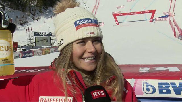 Crans-Montana (SUI), descente dames: Corinne Suter satisfaite après le doublé suisse [RTS]