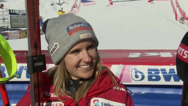 Crans-Montana (SUI), descente dames: Joana Hählen au micro de RTSsport après la descente [RTS]