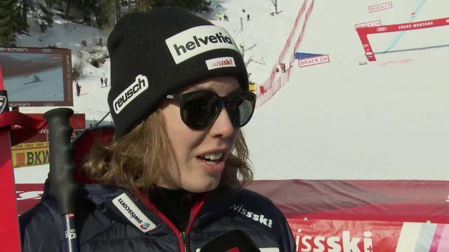Crans-Montana (SUI), descente dames: Michelle Gisin déçue après sa sortie de piste [RTS]