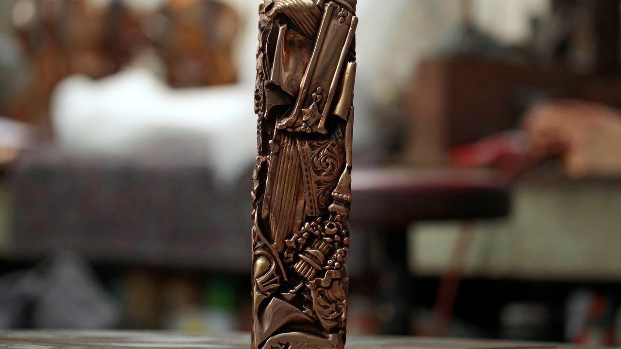 La statuette du prix des César du cinéma. [CHARLY TRIBALLEAU - AFP]