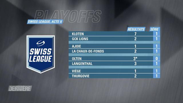 Swiss League, Acte II: résultats [RTS]
