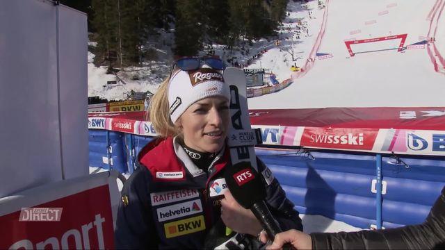 Crans-Montana (SUI), descente dames : interview de Lara Gut-Behrami (SUI) après son doublé [RTS]
