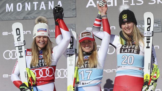 Excellents résultats pour les skieuses suisses à Crans-Montana. [Alessandro Trovati - AP Photo/Keystone]