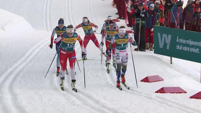 Trondheim (NOR), sprint dames: victoire de Maiken Caspersen Falla (NOR), Nadine Fähndrich 3e [RTS]
