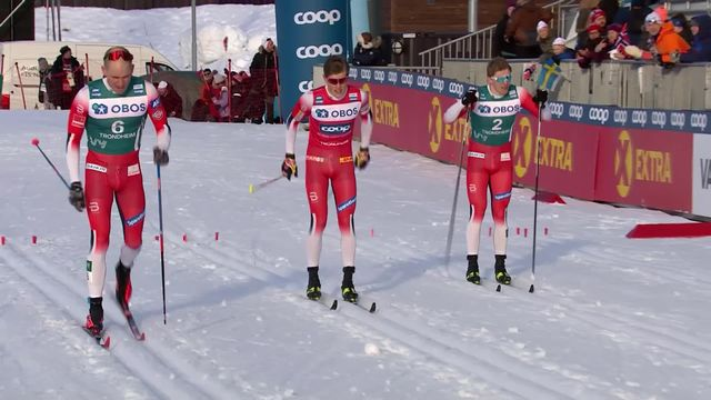 Trondheim (NOR), sprint messieurs: victoire de Johannes Hoesflot Klaebo (NOR) [RTS]