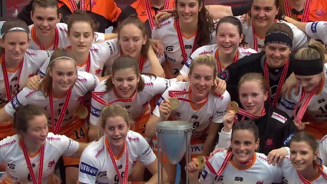 Finale dames, Piranha Chur - Kloten-Dietlikon (7-3): les Grisonnes championnes de Suisse [RTS]