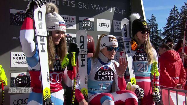 Crans-Montana (SUI), descente dames: nouvelle victoire pour Lara Gut-Behrami, Corinne Suter remporte le globe de la spécialité [RTS]