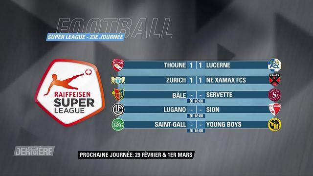 Super League, 23e journée: résultats et classement [RTS]