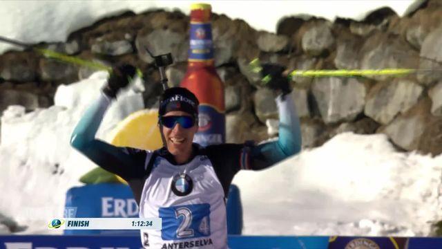 Biathlon, Antholz (ITA), relais messieurs: victoire de la France devant la Norvège et l'Allemagne [RTS]