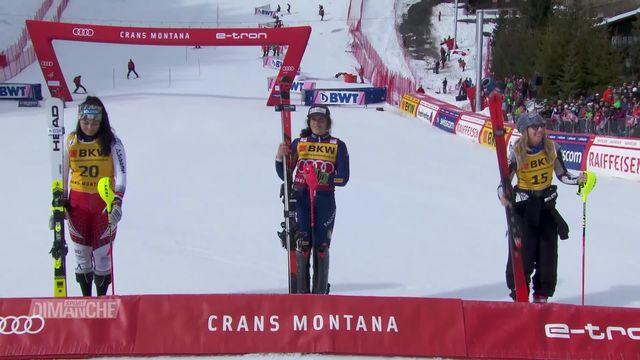 Ski alpin, combiné dames: Federica Brignone (ITA) s'impose à Crans-Montana (SUI) [RTS]