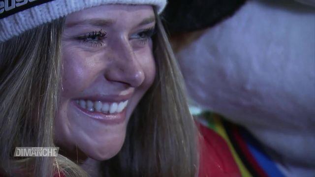 Ski alpin, descente dames: Les remarquables prestations de Lara Gut-Behrami (SUI) et de Corinne Suter (SUI) [RTS]